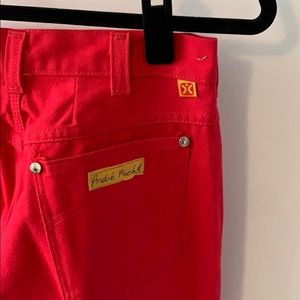 Vintage Red High Wasted Pants